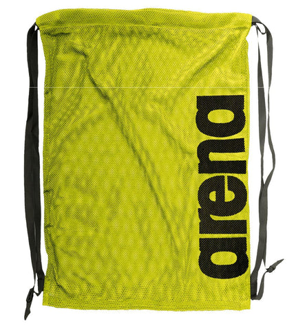 Arena Swim Bags Fast Mesh Fluo Yellow/Black - clickswim.co.nz