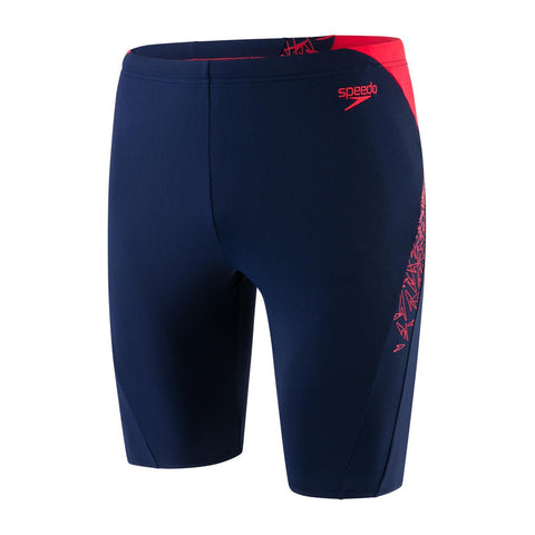 Speedo Boom Splice Jammer Mens Navy/Lava Red - clickswim.co.nz