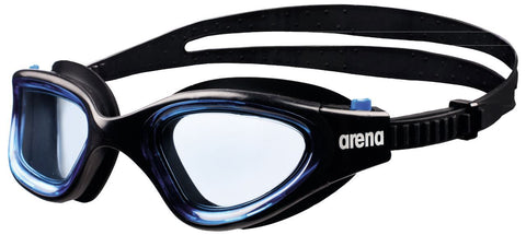 Arena Adult Training Goggles Envision Black/Blue/Blue - clickswim.co.nz
