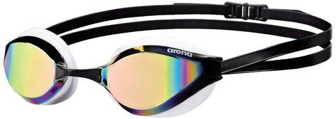 Arena Adult Racing Goggles Python Mirror Revo/White - clickswim.co.nz