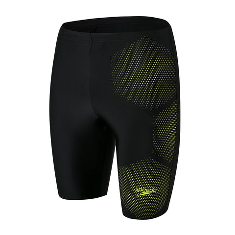 Speedo Tech Placement Jammer Mens Black/Fluo Yellow