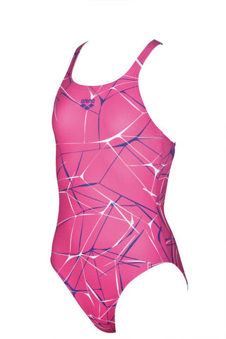 Arena Original Touch Girls Water New V Back One Piece L Aphrodite/Mirtilla - clickswim.co.nz