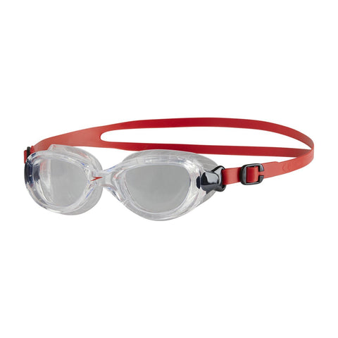 Speedo Junior Unisex Goggles Futura Classic Junior Red/Clear - clickswim.co.nz