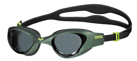 Arena Adult Training Goggles The One Smoke/Deep Green/Black - clickswim.co.nz