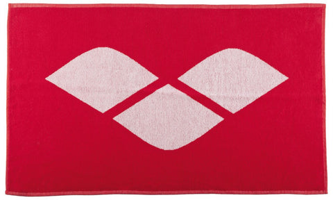 Arena Towel Hiccup Red/White - clickswim.co.nz