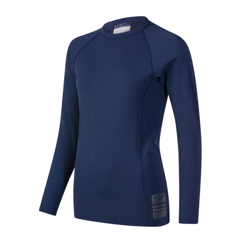 Speedo Mens Endurance + Boom Long Sleeve Rash top Navy/Oxid Grey - clickswim.co.nz