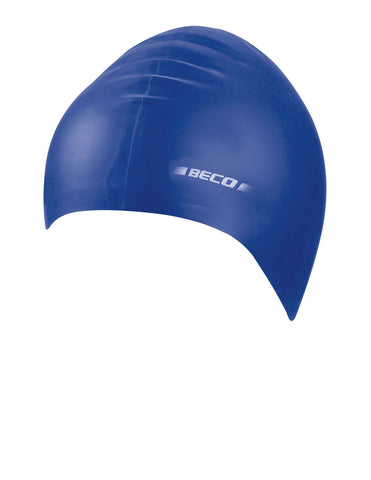 Beco Adult Silicone Solid Cap  Blue - clickswim.co.nz