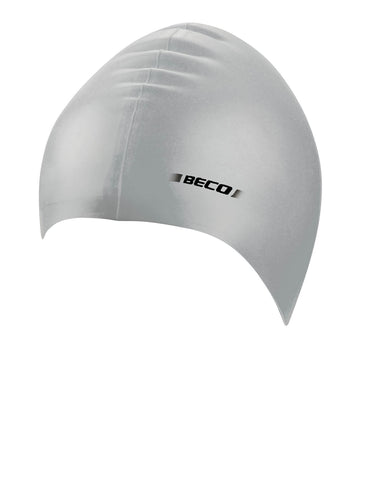 Beco Adult Silicone Solid Cap  Silver - clickswim.co.nz