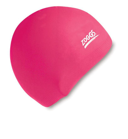 Zoggs Junior Silicone Cap Pink - clickswim.co.nz