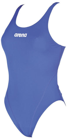 Arena Original Touch Womens Swimsuit Solid Swim Tech High Royal/White - clickswim.co.nz