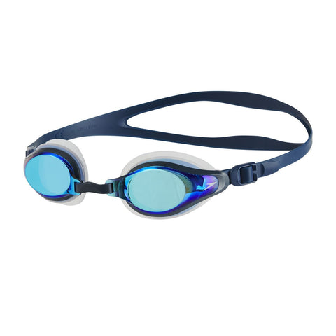 Speedo Adult Unisex Goggles Mariner Supreme Mirror Navy/Blue - clickswim.co.nz