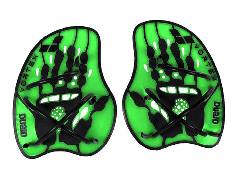 Arena Training Vortex Evolution Hand Paddle Acid Lime/Black - clickswim.co.nz
