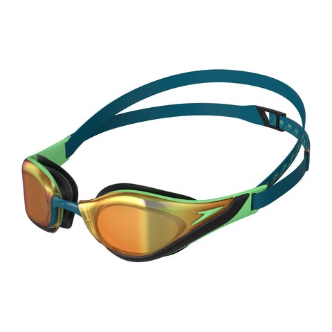 Speedo Fastskin Pure Focus Goggles Mirror Green/Gold Adult