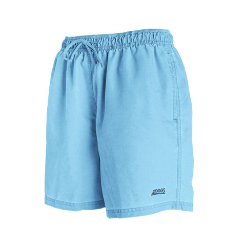 "Mosman Washed  15"" Short  Durafeel (Enzyme) Mens Turquoise - clickswim.co.nz"