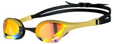 Arena Cobra Ultra Swipe Mirror Goggles Yellow Copper Gold - clickswim.co.nz
