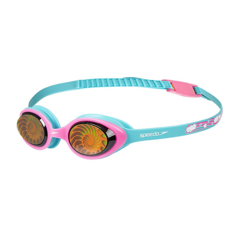 Speedo Junior Girls Goggles Illusion 3D Printed Aqua/Pink - clickswim.co.nz