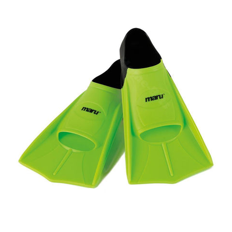 Maru Swimming Training Fins Lime/Black - clickswim.co.nz