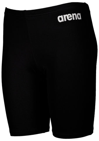 Arena True Sport Boys  Solid Jammer Black/White - clickswim.co.nz