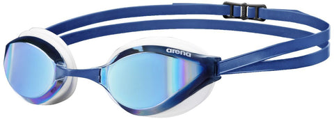 Arena Adult Racing Goggles Python Mirror Blue Mirror/White - clickswim.co.nz