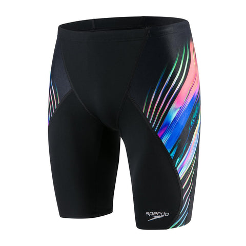 Speedo Jammer Mens Echo Focus/Black/Lava Red - clickswim.co.nz