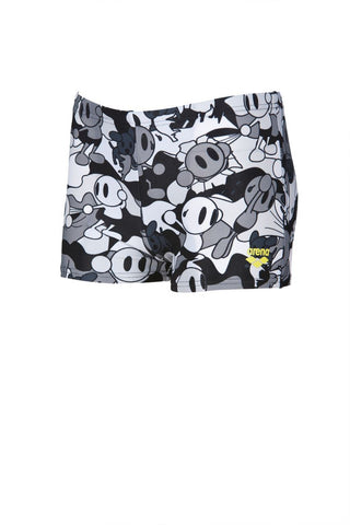 Arena Original Touch Boys Camo Kun Short  Black - clickswim.co.nz