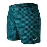 "Speedo Vintage Leisure 14"" Watershort Mens Black/Nordic Teal"