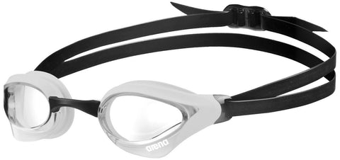 Arena Adult Racing Goggles Cobra Core Clear/White/Black - clickswim.co.nz