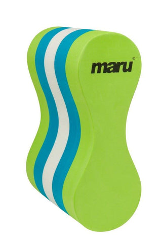 Maru Adult Pull Buoy Training Aid White/Lime/Turquoise - clickswim.co.nz