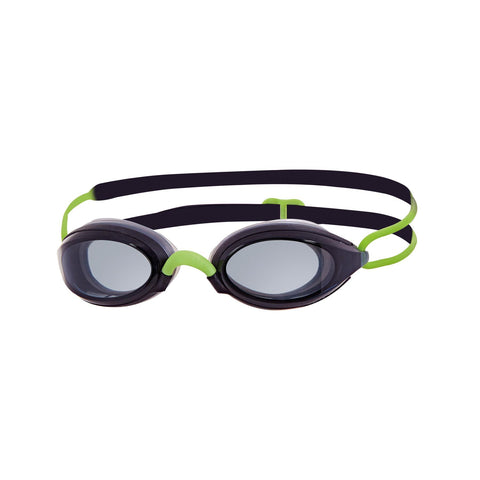 Fusion Air Adult Goggles Black/Green/Smoke - clickswim.co.nz