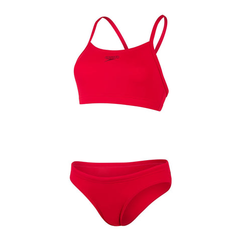 Speedo Endurance+ Thinstrap 2 Piece  Womens Fed Red