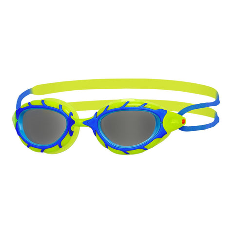 Predator Junior Junior Goggles Blue/Lime/Smoke - clickswim.co.nz