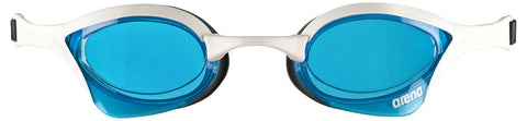 Arena Adult Racing Goggles Cobra Ultra Blue/White/Black - clickswim.co.nz