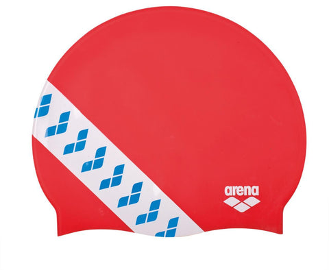 Arena Team  Stripe Cap Touch Cap Red - clickswim.co.nz