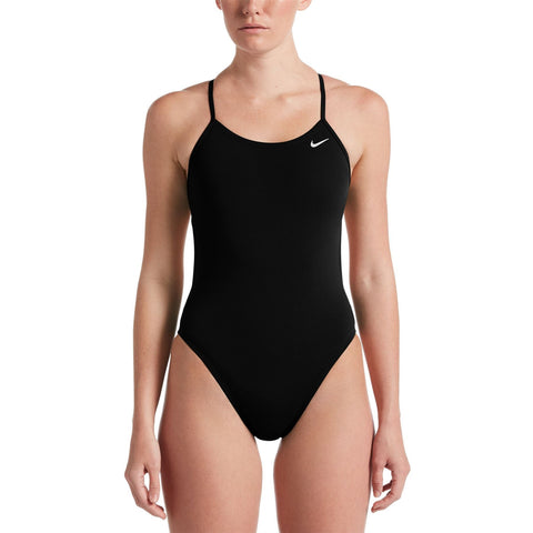 Nike Women's Hydrastrong Swimsuit Cut-Out One Piece Black - clickswim.co.nz