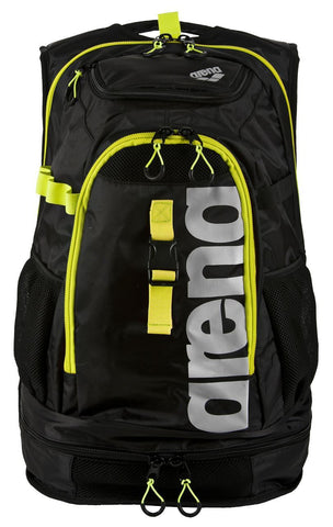 Arena Swim Fast Bags Fastpack 2.1 Black/Fluo Yellow/Silver - clickswim.co.nz