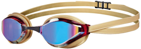 Arena Adult Racing Goggles Python Mirror Revo/Gold - clickswim.co.nz