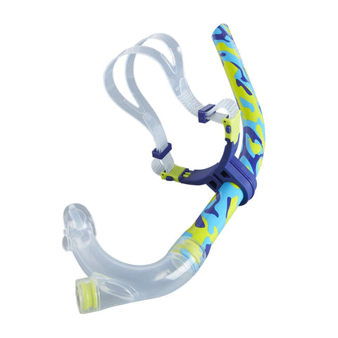 Speedo Adult Training Centre Snorkel Aqua/Navy/Yellow - clickswim.co.nz
