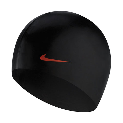 Nike Solid Silicone Cap Black - clickswim.co.nz
