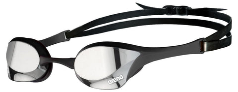 Arena Cobra Ultra Swipe Mirror Goggles Silver Black - clickswim.co.nz