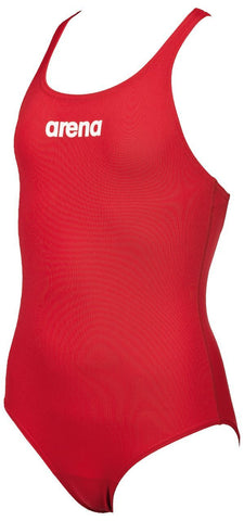 Arena True Sport Girls Solid Swim Pro Red/White - clickswim.co.nz