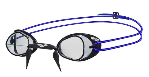 Arena Adult Racing Goggles Swedix Clear/Blue - clickswim.co.nz