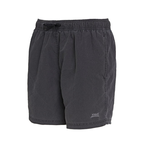 "Mosman Washed  15"" Short  Durafeel (Enzyme) Mens Charcoal - clickswim.co.nz"
