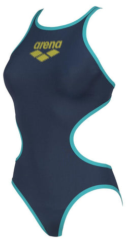 Arena One Biglogo Womens One Piece Swimsuit Shark Mint