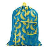 Speedo Deluxe Ventilator Mesh Bag Adult Blue/ Yellow Print