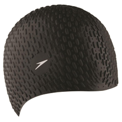 Speedo Womens Bubble Cap Black - clickswim.co.nz