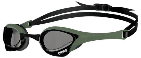 Arena Cobra Ultra Goggles Smoke Army Black - clickswim.co.nz