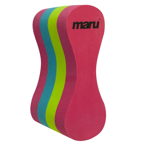 Maru Adult Pull Buoy Adult Pink/Lime/White - clickswim.co.nz