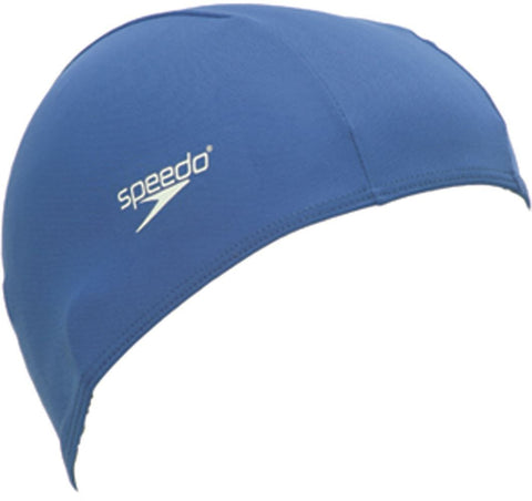 Speedo Polyester Cap Junior Blue - clickswim.co.nz
