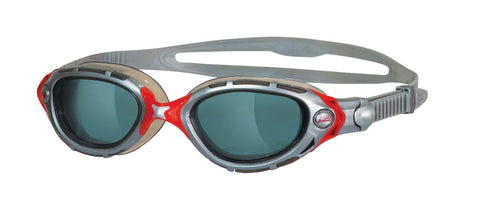 Zoggs Predator Flex Goggle Red/Silver - clickswim.co.nz