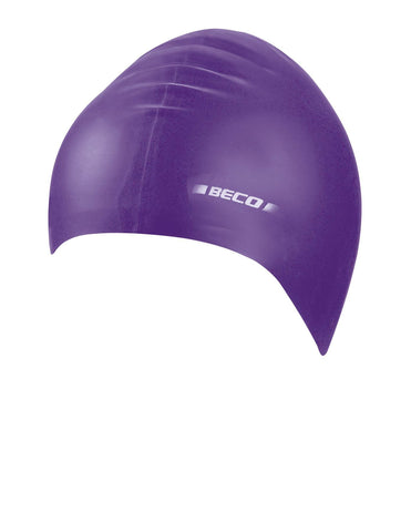 Beco Adult Silicone Solid Cap  Purple - clickswim.co.nz
